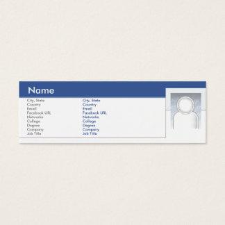 細いFacebook - スキニー名刺