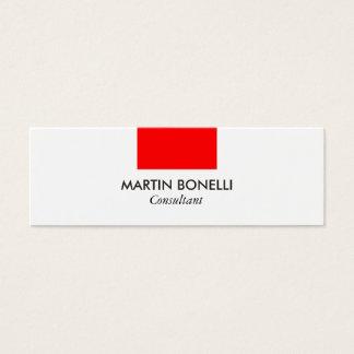 細くスタイリッシュで白く赤い標準的な名刺 スキニー名刺