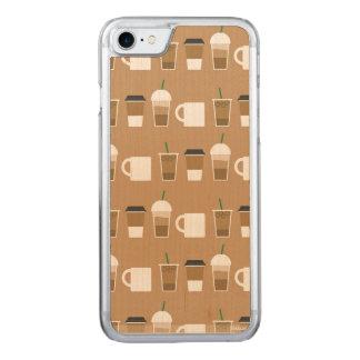 細く行くコーヒーかえでのiPhone 6/6s Carved iPhone 8/7 ケース