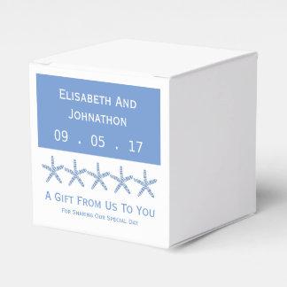 細く青い海星の結婚式 フェイバーボックス
