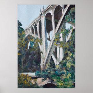 細流のSecoのファインアートPrin上の歴史的な橋 ポスター