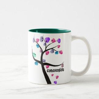 細胞のデザインのCytologistのギフトのユニークな木 ツートーンマグカップ