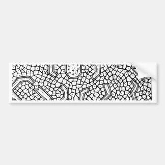 細胞インドネシアの織物パターン バンパーステッカー