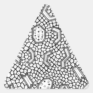 細胞インドネシアの織物パターン 三角形シール