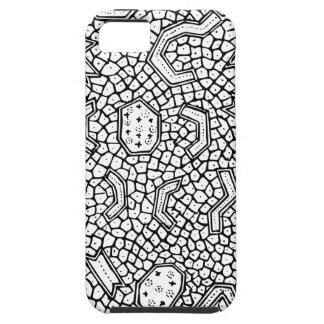 細胞インドネシアの織物パターン iPhone SE/5/5s ケース