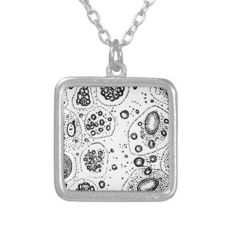 細胞デザイン シルバープレートネックレス