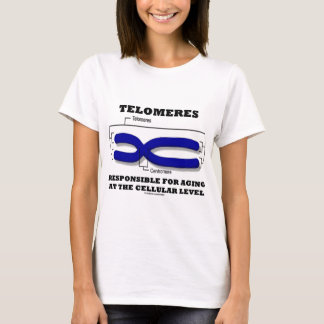 細胞レベルで老化することに責任があるTelomeres Tシャツ