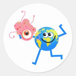 細菌の地球 ラウンドシール