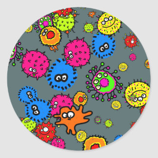 細菌の壁紙 ラウンドシール