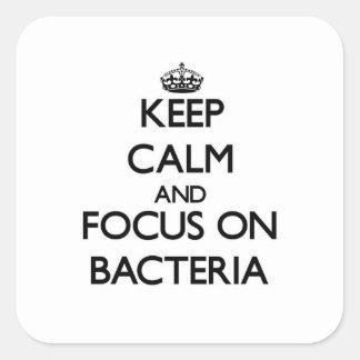 細菌の平静そして焦点を保って下さい スクエアシール