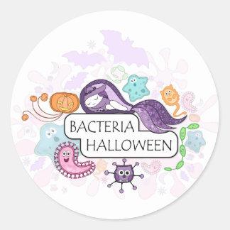 細菌ハロウィン ラウンドシール