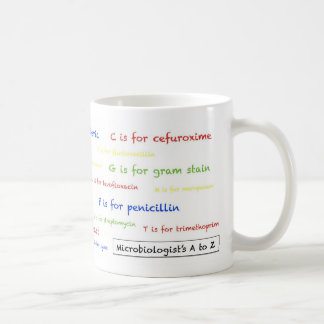 細菌学者のAにZのマグ-白 コーヒーマグカップ
