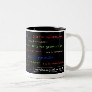 細菌学者のAにZのマグ-黒 ツートーンマグカップ