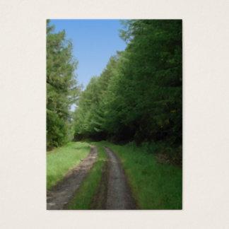 細道および木の素晴らしい景色の眺め 名刺