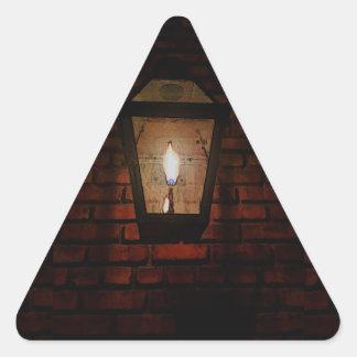 細道の白熱 三角形シール