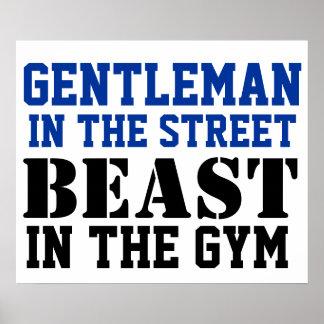 紳士および獣のトレーニングの刺激 ポスター