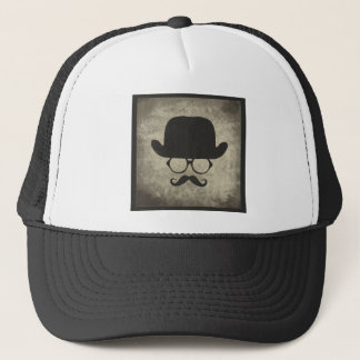 紳士のなダッシュの口ひげの山高帽 キャップ