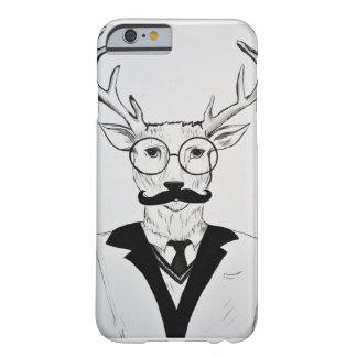 紳士のシカのスケッチのiPhoneの場合 Barely There iPhone 6 ケース
