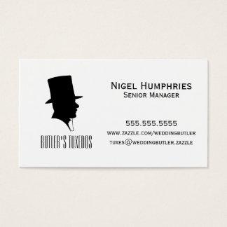紳士のシルクハットの小売業カード 名刺