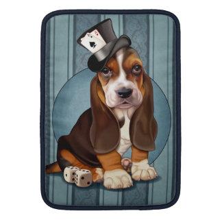 紳士のバセットハウンドの子犬 MacBook スリーブ