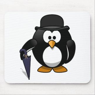 紳士のペンギンの漫画の芸術 マウスパッド