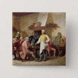 紳士の討論1881年(パネルの油) 5.1CM 正方形バッジ