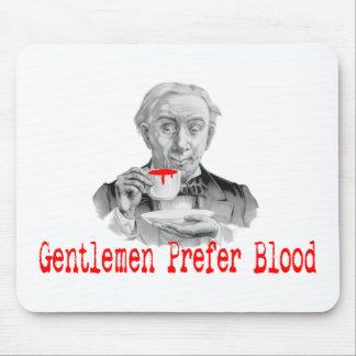 紳士は血を好みます マウスパッド