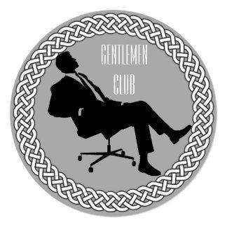紳士クラブ招待状 カード