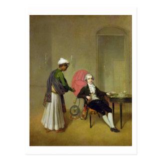 紳士、多分ウィリアムHickey、および彼のIndi ポストカード