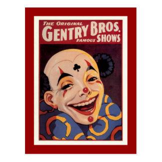 紳士Bros。 ヴィンテージのサーカス ポストカード