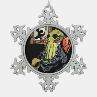 紳士Cthulhu -雪片のオーナメント スノーフレークピューターオーナメント