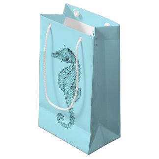 紺碧のタツノオトシゴ スモールペーパーバッグ