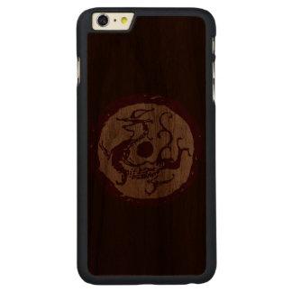 紺碧のドラゴン CarvedウォルナットiPhone 6 PLUSスリムケース