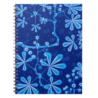 紺碧のフロストの花のノート ノートブック