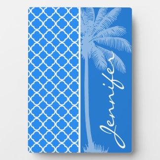紺碧の青いクローバー; 夏のやし フォトプラーク