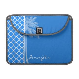 紺碧の青いクローバー; 夏のやし MacBook PROスリーブ