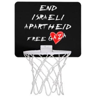 終わりのイスラエルのアパルトヘイトはガザを放します ミニバスケットボールネット