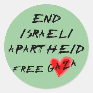 終わりのイスラエルのアパルトヘイトはガザを放します ラウンドシール