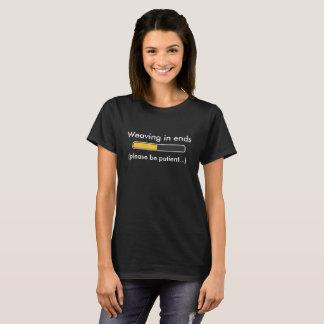 終わりのステータスバーのTシャツで編むこと Tシャツ