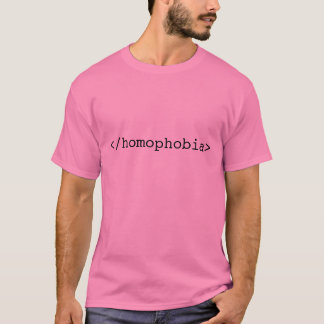 終わりの同性愛恐怖症 Tシャツ