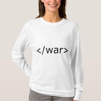 終わり戦争html -黒及び白 tシャツ