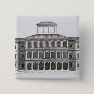 終わるQuirinaleのPalazzo Barberini 1630年 5.1cm 正方形バッジ