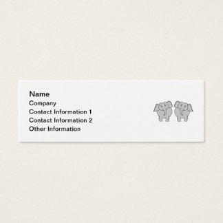 組のかわいい象。 カップル スキニー名刺