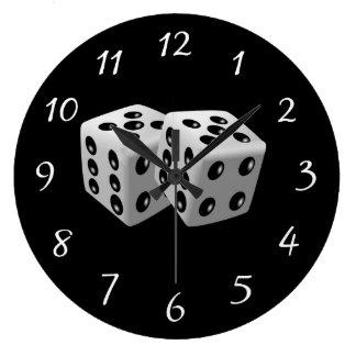 組のサイコロ ラージ壁時計
