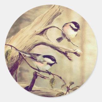 組のシャロンSHARPE著《鳥》アメリカゴガラ ラウンドシール