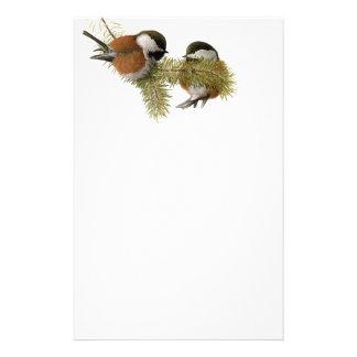 組の松の木のクリに支えられる《鳥》アメリカゴガラ 便箋
