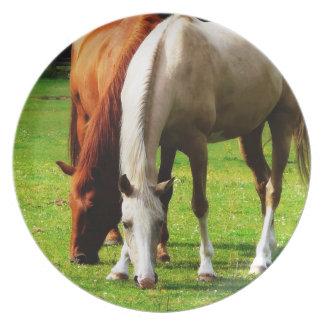組の田園分野の馬 プレート