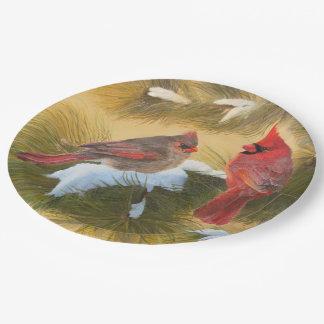 組の(鳥)ショウジョウコウカンチョウ ペーパープレート