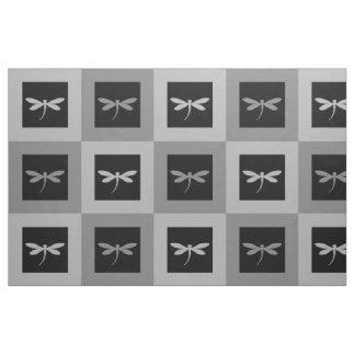 組み立てられたトンボパターンwカスタマイズ可能な背景 ファブリック