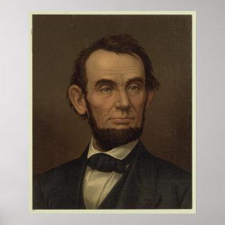 組み立てられるエイブラハム・リンカーンの写真 ポスター